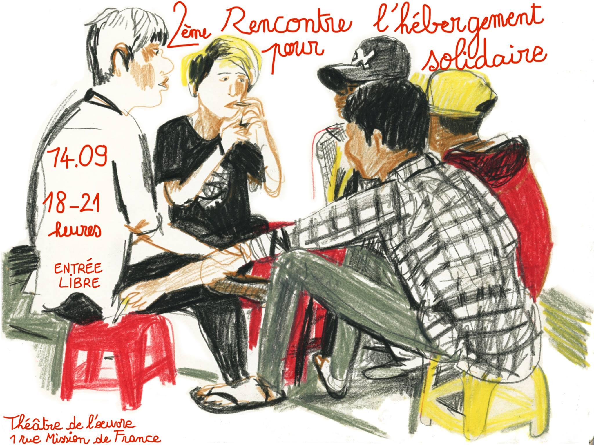 2ÈME RENCONTRE POUR L'HÉBERGEMENT SOLIDAIRE – 14 Septembre 2018, Théâtre de l'Oeuvre